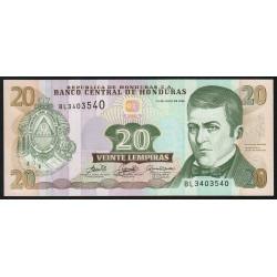 Honduras - Pick 93a - 20 lempiras - 13/07/2006 - Etat : NEUF