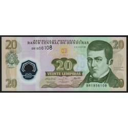 Honduras - Pick 95_2 - 20 lempiras - 31/07/2008 - Polymère - Etat : NEUF