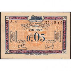 R.C.F.T.O. - Pirot 135-1 - Série A.4 - 5 centimes - 1923 - Etat : SPL