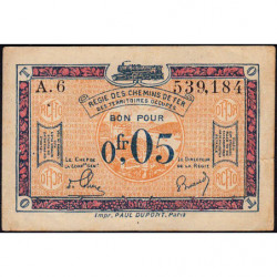 R.C.F.T.O. - Pirot 135-1 - Série A.6 - 5 centimes - 1923 - Etat : TTB