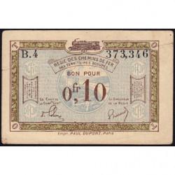 Allemagne - R.C.F.T.O. - Pirot 135-2 - Série B.4 - 10 centimes - 1923 - Etat : TTB