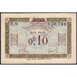 Allemagne - R.C.F.T.O. - Pirot 135-2 - Série B.9 - 10 centimes - 1923 - Etat : TTB+