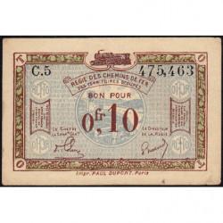 Allemagne - R.C.F.T.O. - Pirot 135-2 - Série C.5 - 10 centimes - 1923 - Etat : TTB+