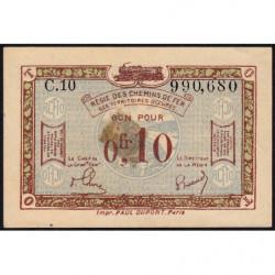 R.C.F.T.O. - Pirot 135-2 - Série C.10 - 10 centimes - 1923 - Etat : TB+