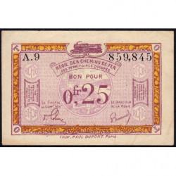 Allemagne - R.C.F.T.O. - Pirot 135-3 - Série A.9 - 25 centimes - 1923 - Etat : TTB+