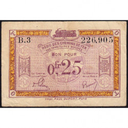 Allemagne - R.C.F.T.O. - Pirot 135-3 - Série B.3 - 25 centimes - 1923 - Etat : TB