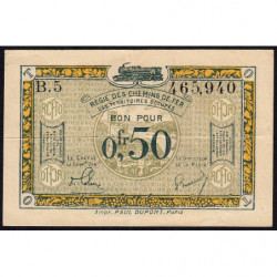 Allemagne - R.C.F.T.O. - Pirot 135-4 - Série B.5 - 50 centimes - 1923 - Etat : TTB+