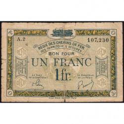 Allemagne - R.C.F.T.O. - Pirot 135-5 - Série A.2 - 1 franc - 1923 - Etat : B+