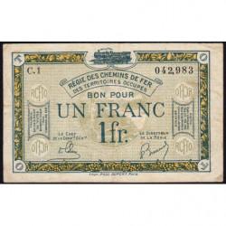 R.C.F.T.O. - Pirot 135-5 - Série C.1 - 1 franc - 1923 - Etat : TB+