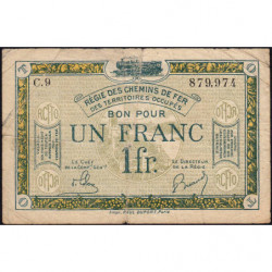 R.C.F.T.O. - Pirot 135-5 - Série C.9 - 1 franc - 1923 - Etat : TB-