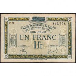 R.C.F.T.O. - Pirot 135-5 - Série C.9 - 1 franc - 1923 - Etat : TB+