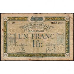 R.C.F.T.O. - Pirot 135-5 - Série C.10 - 1 franc - 1923 - Etat : B+
