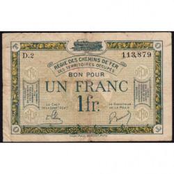 R.C.F.T.O. - Pirot 135-5 - Série D.2 - 1 franc - 1923 - Etat : TB-