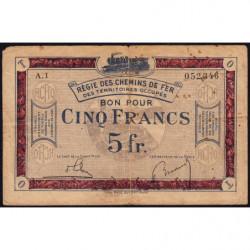 R.C.F.T.O. - Pirot 135-6 - Série A.1 - 5 francs - 1923 - Etat : TB-