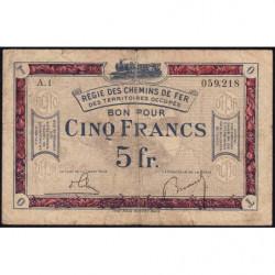 Allemagne - R.C.F.T.O. - Pirot 135-6 - Série A.1 - 5 francs - 1923 - Etat : B+