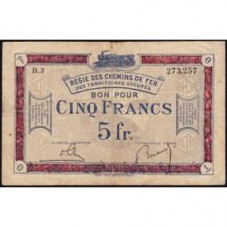 R.C.F.T.O. - Pirot 135-6 - Série B.3 - 5 francs - 1923 - Etat : TB