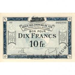 Allemagne - R.C.F.T.O. - Pirot 135-7 - Spécimen - 10 francs - 1923 - Etat : NEUF