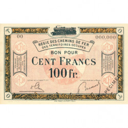 R.C.F.T.O. - Pirot 135-10 - Spécimen - 100 francs - 1923 - Etat : NEUF