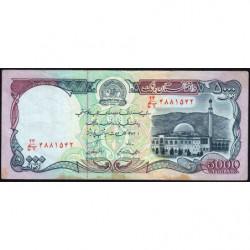 Afghanistan - Pick 62 - 5'000 afghanis - 1993 - Etat : TB+