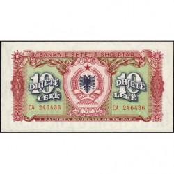 Albanie - Pick 28a - 10 lekë - 1957 - Etat : NEUF