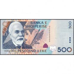 Albanie - Pick 68a - 500 lekë - Série UG - 2001 - Etat : NEUF