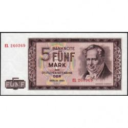 Allemagne RDA - Pick 22a - 5 mark der Deutschen Notenbank - 1964 - Etat : NEUF