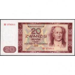 Allemagne RDA - Pick 24r (remplacement) - 20 mark der Deutschen Notenbank - 1964 - Etat : NEUF