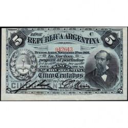 Argentine - Pick 209_4 - 5 centavos - Série C - 01/11/1891 - Etat : pr.NEUF