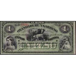 Argentine - Pick S 1782r - 1 peso boliviana - Série Z - 02/01/1869 - Etat : NEUF