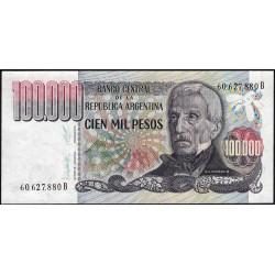 Argentine - Pick 308b - 100'000 pesos - Série B - 1983 - Etat : NEUF