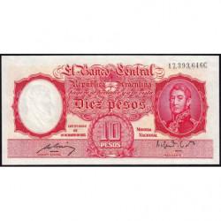 Argentine - Pick 265b3 - 10 pesos - Série C - 1950 - Etat : NEUF