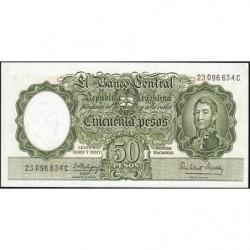Argentine - Pick 271c4 - 50 pesos - Série C - 1955 - Etat : pr.NEUF