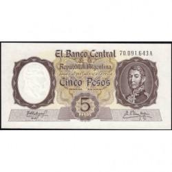Argentine - Pick 275c - 5 pesos - Série A - 1960 - Etat : NEUF