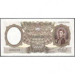Argentine - Pick 280b1 - 5'000 pesos - Série A - 1962 - Etat : NEUF