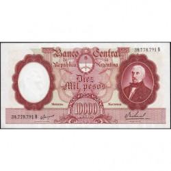 Argentine - Pick 281b - 10'000 pesos - Série A - 1961 - Etat : SPL