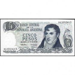 Argentine - Pick 294_1 - 5 pesos - Série A - 1974 - Etat : NEUF