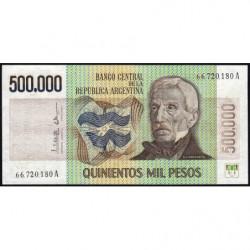 Argentine - Pick 309_2 - 500'000 pesos - Série A - 1980 - Etat : SPL