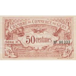 Auch (Gers) - Pirot 15-11 - Série K - 50 centimes - 1918 - Etat : SUP