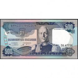 Angola - Pick 102 - 500 escudos - 24/11/1972 - Etat : NEUF