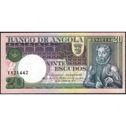 Angola - Pick 104 - 20 escudos - Série 1A - 10/06/1973 - Etat : NEUF