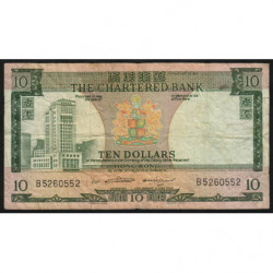 Hong Kong - Pick 74b1 - The Chartered Bank - 10 dollars - 1970 - Etat : TB-