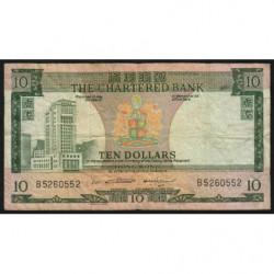Hong Kong - Pick 74b1 - The Chartered Bank - 10 dollars - 1970 - Etat : TB-