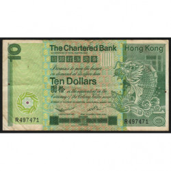Hong Kong - Pick 77a - The Chartered Bank - 10 dollars - 01/01/1980 - Etat : TB