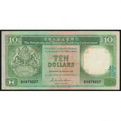 Hong Kong - Pick 191a - The H. S. B. C. - 10 dollars - 01/01/1985 - Etat : TB+