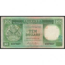 Hong Kong - Pick 191a - The H. S. B. C. - 10 dollars - 01/01/1985 - Etat : TB+