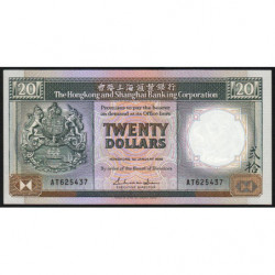 Hong Kong - Pick 192b - The H. S. B. C. - 20 dollars - 01/01/1988 - Etat : SUP+
