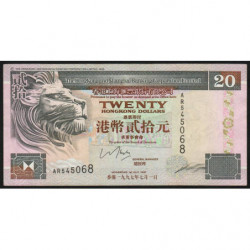 Hong Kong - Pick 201c - The H. S. B. C. Lim. - 20 dollars - 01/07/1997 - Etat : SUP