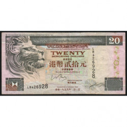 Hong Kong - Pick 201d - The H. S. B. C. Lim. - 20 dollars - 01/01/1999 - Etat : TB