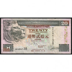 Hong Kong - Pick 201d - The H. S. B. C. Lim. - 20 dollars - 01/01/1999 - Etat : TB+