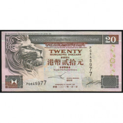 Hong Kong - Pick 201d - The H. S. B. C. Lim. - 20 dollars - 01/01/2001 - Etat : TTB-